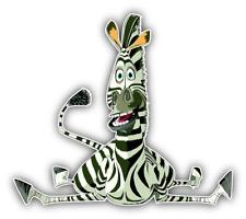 Madagascar Marty Dropped Cartoon Car Bumper Sticker Decal 5'' x 4''