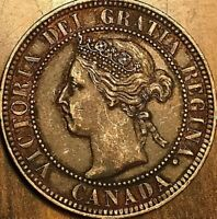 1900 no H CANADA LARGE CENT PENNY LARGE 1 CENT COIN - Excellent example!