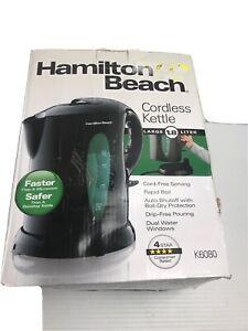 OPEN BOX HAMILTON BEACH BLACK ELECTRIC KETTLE-CORDLESS SERVING