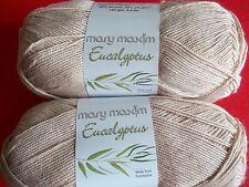 Mary Maxim Eucalyptus fiber baby yarn, Beige, lot of 2, (328 yds each)
