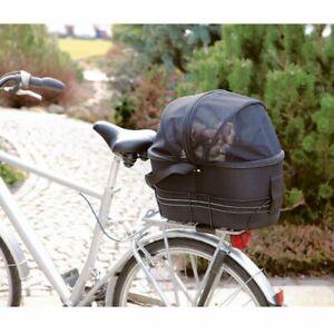 Pet Bicycle Basket Bag Dog Bike Rear Carrier Transport Secure Quality Net Cover