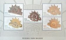 Australia 2012 Rising Sun Badge mini-sheet, brand new
