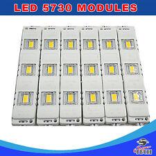 200 x 3 LED Cool White 12V, 5730 SMD Module Waterproof Light Lamp ShopFront Sign
