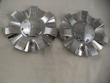 Hoyo Wheels Chrome Custom Wheel Center Cap Caps # CSH1S-2P (2 CAPS) USED