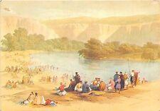 B67044 Israel Banks of the River Jordan art reproduction Davis Roberts