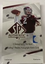 2014 Upper Deck SP Authentic Football Box Factory Sealed Hobby FASC