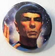 """older Star Trek MR. SPOCK large 2.25"""" color photo pinback button"""