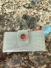 NWT Kathy Van Zeeland Silver Pink Wallet Clutch Rhinestones