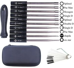 10PACK Carburettor Screwdriver Adjusting Carb Tool Motor Kit With Cleaning Brush