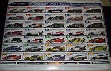 Le Mans 2012 - FIA WEC 6 Hours Of Silverstone Spotter Guide Poster - Audi Toyota