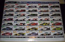Le MANS 2012-FIA WEC 6 ore di SILVERSTONE SPOTTER GUIDA POSTER-AUDI TOYOTA