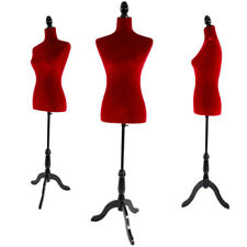 New Female Mannequin Torso Dress Form Display Adjustable Tripod Stand Red