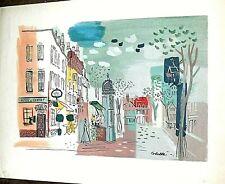 CHARLES COBELLE STREET SCANE LITHOGRAPH PRINT 20 X 26 INCHES