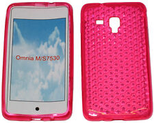 Per Samsung Galaxy Ace Plus GT S7500 PATTERN Gel Custodia Protettiva Cover Rosa Nuovo