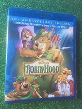 Robin Hood (Blu-ray+DVD+Digital Copy, 2013; 40th Anniv. Ed.) NEW w/ Slipcover