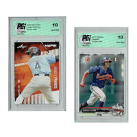 Wander Franco Leaf HYPE! / Ronald Acuna 1st Bowman Rookie Card 2-Pack PGI 10