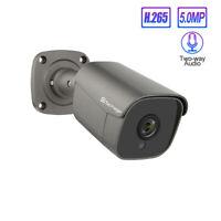 Techage 48V 5MP H.265 POE IP Camera 2-Way Audio Onvif CCTV Security Surveillance