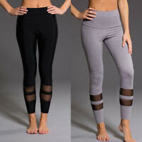 Women Sport Pants High Waist Yoga Fitness Leggings Running Gym Scrunch Trousers