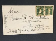 Switzerland 1935 Montreux To Leipzig Tiny Envelope Cover