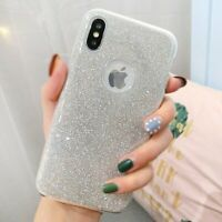 For iPhone X 10 Case Sparkle Bling Three Layer For Girls Women Cute Bumper Cover