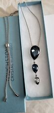 Touchstone Crystal by Swarovski Pear Drop Pendant Blue New In Box