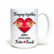 Customized Sloth Coffee Mug For Anniversary A Cute Personalized Valentines Day