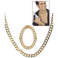 PIMP GOLDKETTEN Gangster Rapper Zuhälter Armkette Halskette Kostüm Schmuck 5035