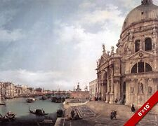 ENTRANCE TO GRAND CANAL VENICE ITALY LANDSCAPE PAINTING ART REAL CANVAS PRINT