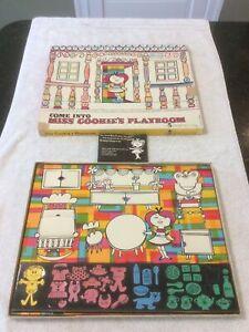 Come Into Miss Cookie's Playroom Colorforms 1961 Vintage Partial Set
