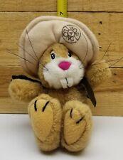 """Vintage 1980's Applause Hop A Long Cassidy Rabbit 8"""" Plush Brown Hat Vest"""