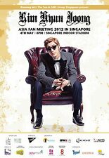 "KIM HYUN JOONG ""ASIA FAN MEETING"" 2012 SINGAPORE CONCERT TOUR POSTER- K-Pop, R&B"