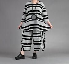 ♦ AKH A-Linie-Shirt Gr. 44,46,48,50, schwarz-weiß gestreift ♦