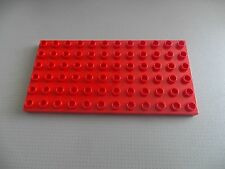 Lego Duplo - 6x12 Red Base Plate Building Board - 4196
