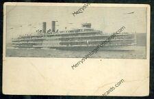 "Hudson River Dayline ""Hendrick Hudson"" (1905 postcard(SH#1)#612"