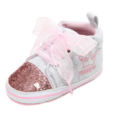 Newborn Baby Girl Bandage Shoes Sequins Toddler Sneakers Multi Shoes 0-18M