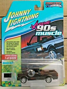 JOHNNY LIGHTNING 1991 GMC SYCLONE 90S MUSCLE 1:64 DIE CAST CAR BLACK 1 OF 4420 !