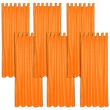6x Rideau à passants polyester 245x137cm voilage occultant orange imprimé