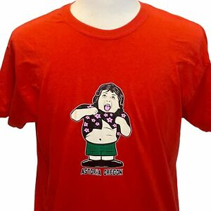 Goonies Chunk Truffle Shuffle Astoria Oregon Mens Large Red T Shirt