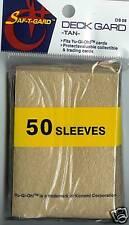 50 - Tan Yu Gi Oh Card Protective Deck Gard Sleeves