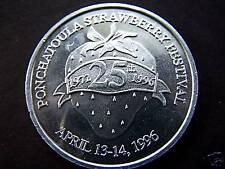 1996 Ponchatoula Strawberry Festival Plain Aluminum (Mardi Gras) Doubloon