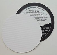 silver Magnetic Tax disc holder fits any volvo         volvclas z