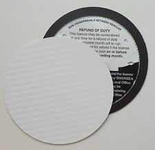 magnetic tax disc holder WHITE carbon fibre Fits audi seat skoda kia saab volvo