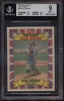 1992 Kelloggs Corn Flakes All Star 3D Phil Niekro Mint BGS 9 Subs 9.5 Atlanta