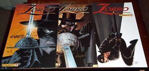 1st print set (3) ZORRO #1 a b c SIGNED MATT WAGNER MIKE MAYHEW dynamite 2008