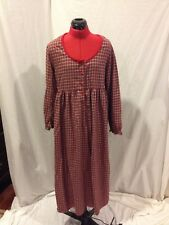 Victoria's Secret Country Large 100% Cotton Flannel Gown Green and Red Plaid