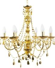 NEW LEITMOTIV Gypsy Six Arms Large Gold Plated Chandelier