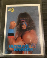 1990 classic wwf ultimate warrior Mint rookie Card psa ready #127