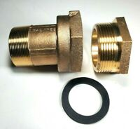 """2"""" Water Meter Coupling, LEAD-FREE brass, With Bushing for FEM thread meter"""
