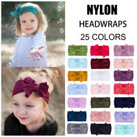 Cute Kids Girl Baby Headband Soft Newborn Nylon Bow Hair Band Accessory Headwear