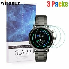 3 Pack For Fossil CARLYLE HR Gen 5 Smartwatch Tempered Glass Screen Protector US